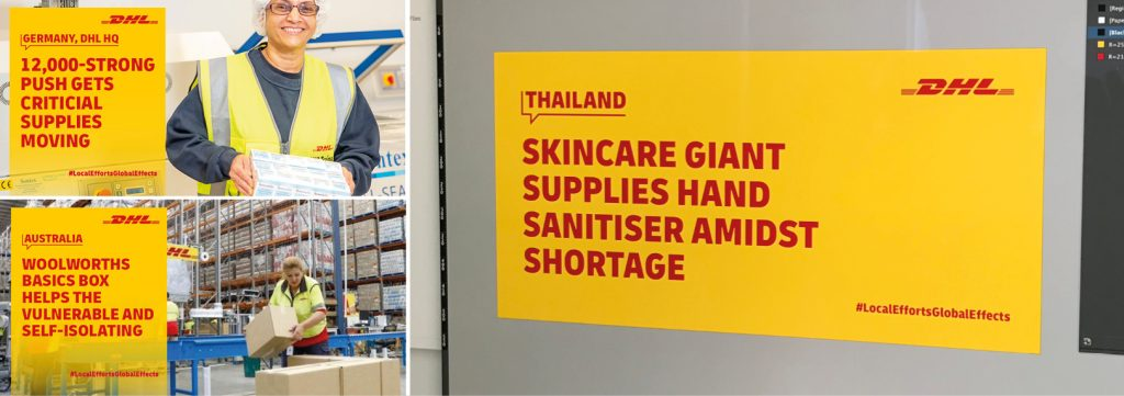 3 images DHL Local Efforts Global Effects key messaging